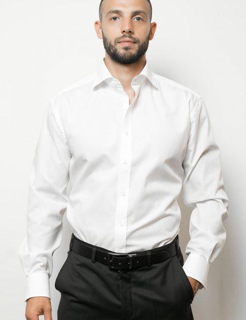 02-1100-X177-00 (1) Мужская рубашка прямая (Modern Fit) белая со стандартным рукавом