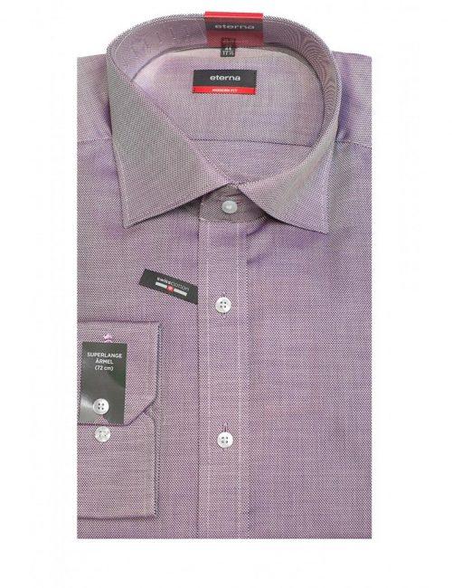 Мужская рубашка прямая (Modern Fit) сиреневая с длинным рукавом