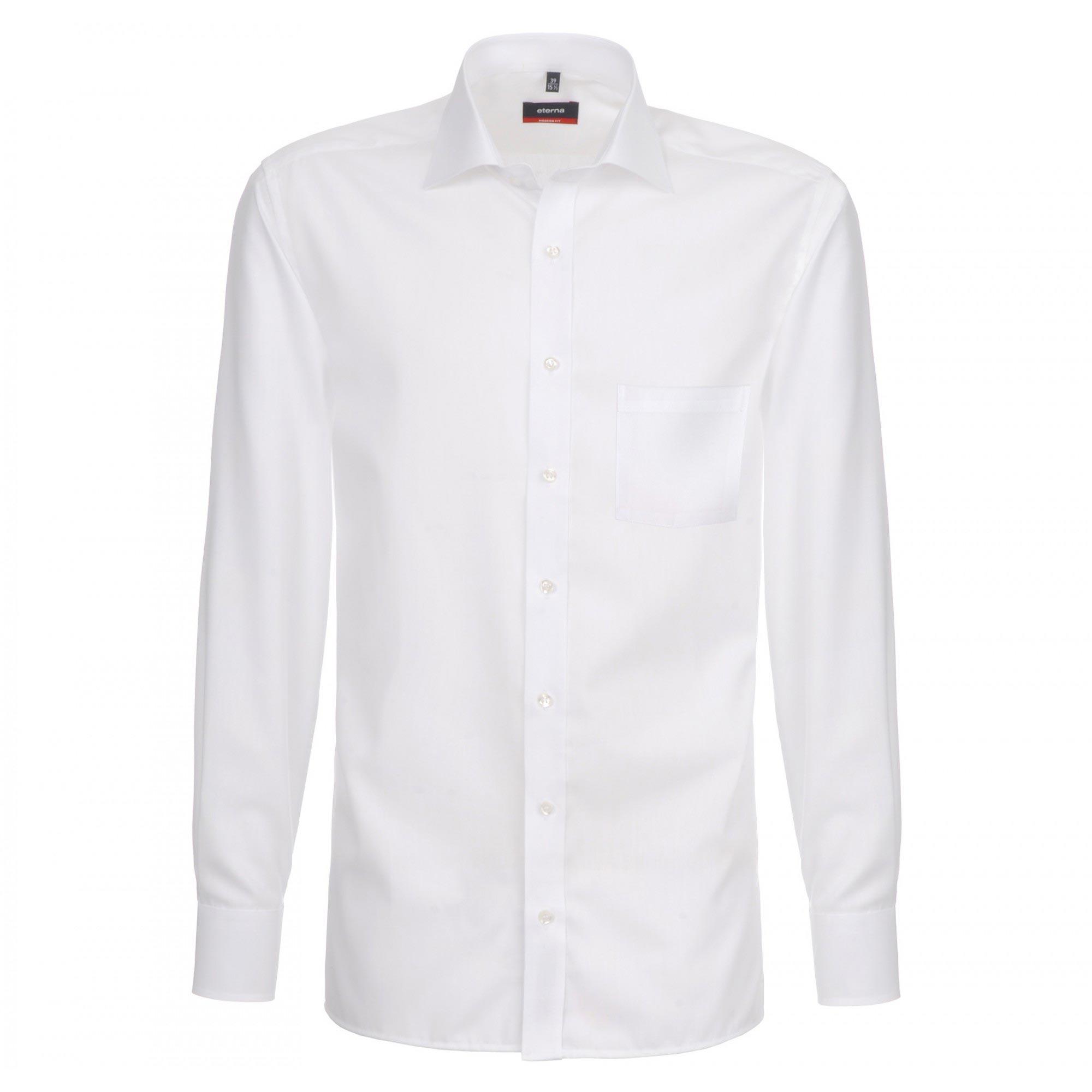 80274b287cb Мужская прямая рубашка (Modern Fit) белая с длинным рукавом 02-1100 ...