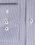 02-4546-X177-14 (4) Мужская рубашка прямая (Modern Fit) голубая с принтом со стандартным рукавом