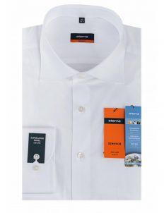 Мужская рубашка приталенная (Slim Fit) белая с длинным рукавом