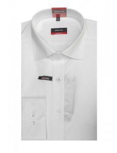 02-4159-X177-00 (2) Мужская рубашка прямая (Modern Fit) белая текстурная со стандартным рукавом