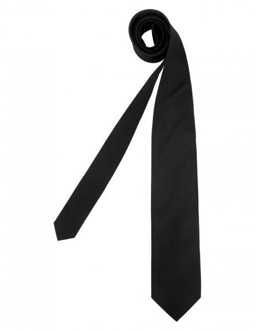 Мужской галстук однотонный черный