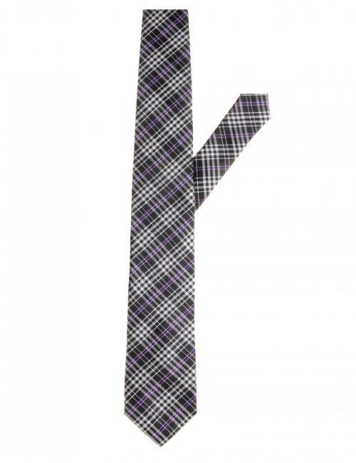 Мужской галстук в клетку