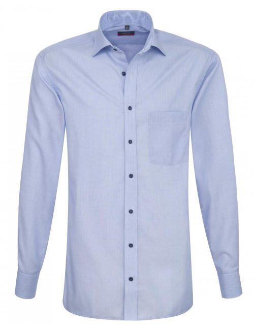 Мужская рубашка прямая (Modern Fit) голубая с длинным рукавом