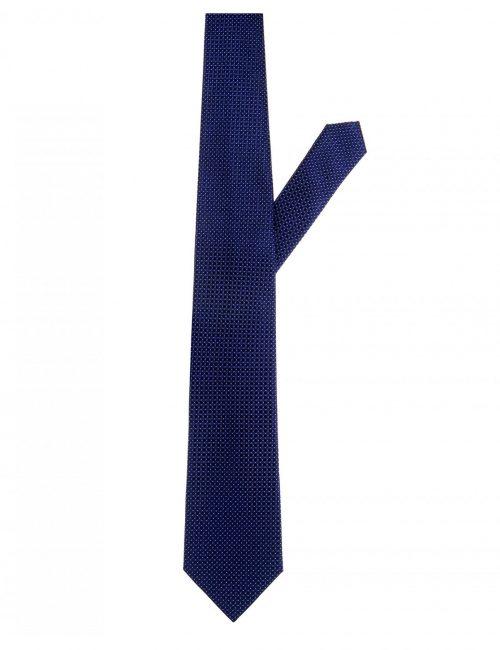 Мужской галстук синий с принтом