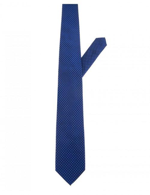 Мужской галстук синий в горошек