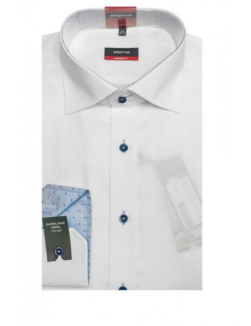 Мужская рубашка прямая (Modern Fit) белая с длинным рукавом