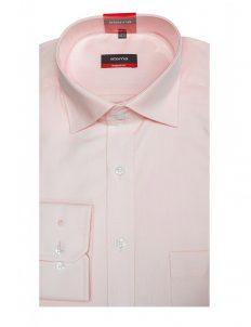 Мужская рубашка прямая (Modern Fit) розовая со стандартным рукавом