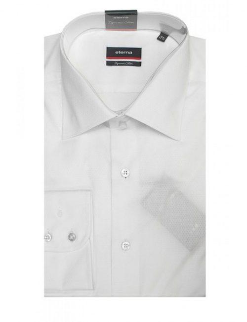 Мужская рубашка прямая (Modern Fit) белая текстурная со стандартным рукавом