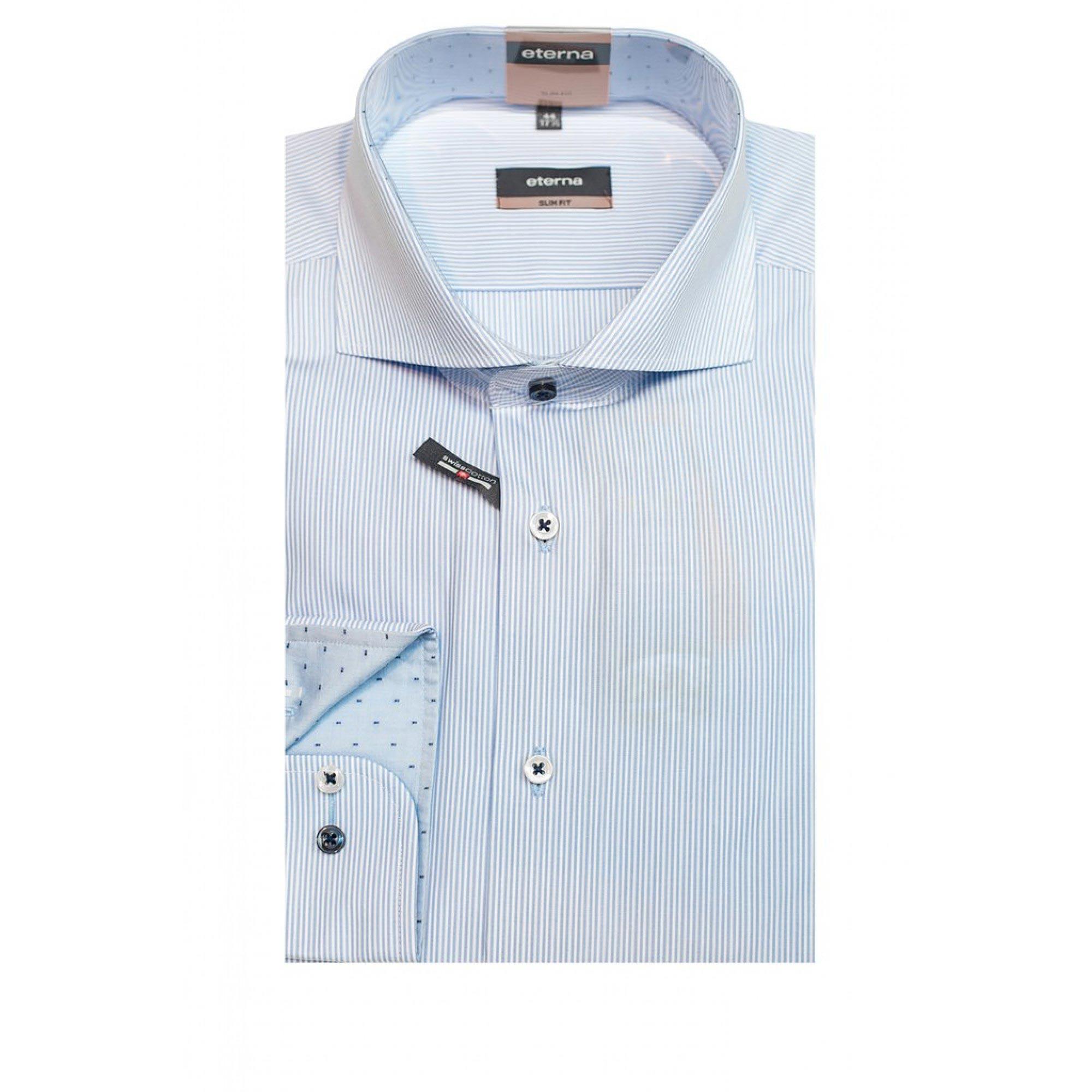 66b10715c0c Приталенная рубашка (Slim Fit) в полоску с длинным рукавом 02-4076 ...