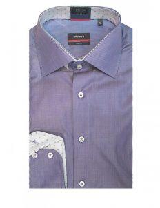 02-4507-S647-19 (2) Мужская рубашка прямая (Modern Fit) голубая в полоску со стандартным рукавом