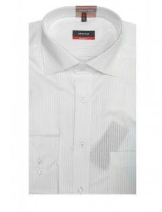 02-4991-X187-00 (2) Мужская рубашка прямая (Modern Fit) белая в полоску со стандартным рукавом