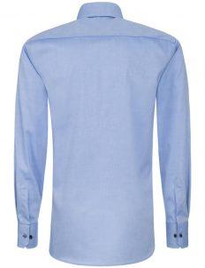 02-8100-F132-12 (3) Мужская рубашка приталенная (Slim Fit) голубая со стандартным рукавом
