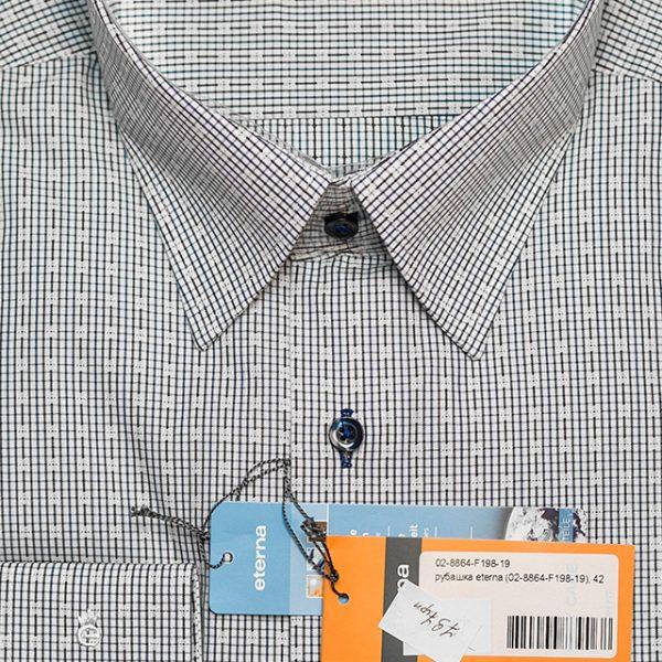 9fd264aba4adeb5 Рубашка белая мужская с принтом приталенная 02-8864-F198-19 - купить ...