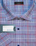 Клетчатая рубашка с короткими рукавами 100% хлопок