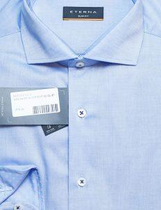 Мужская рубашка голубая с длинным рукавом 100% хлопок