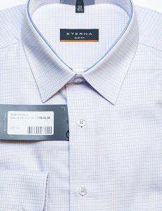 Рубашка мужская в мелкую клетку Slim Fit 100% хлопок