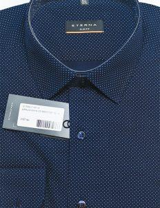 Рубашка черная с длинным рукавом в горошек 100% хлопок