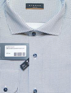Рубашка мужская с принтом приталенная 100% хлопок