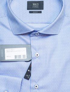 Рубашка Slim Fit с длинным рукавом в мелкую клетку 100% хлопок