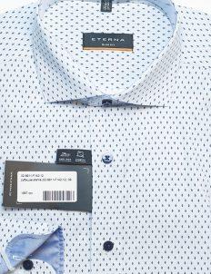 Рубашка мужская приталенная белая в орнамент 100% хлопок