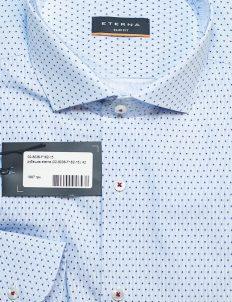 Рубашка Slim Fit голубая с длинным рукавом 100% хлопок