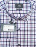 Мужская рубашка в клеточку с длинным рукавом 100% хлопок