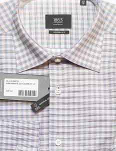 Рубашка Modern Fit с длинным рукавом в клетку 100% хлопок