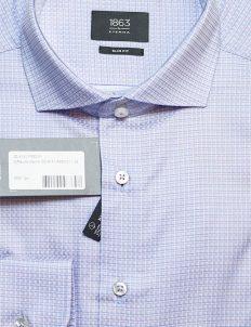 Рубашка мужская приталенная в клеточку 100% хлопок