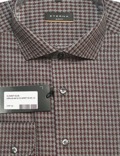 Рубашка с принтом Slim Fit 100% хлопок