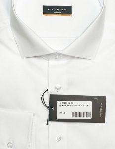 Рубашка белая приталенная под пуговицу 100% хлопок