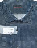 Рубашка Modern Fit синяя с принтом 100% хлопок