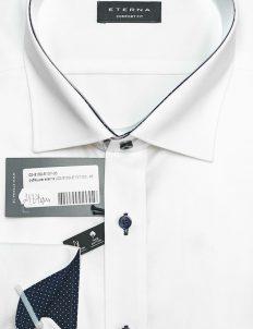 Рубашка с длинным рукавом белая из 100% хлопка 100% хлопок