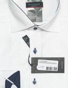 Белая рубашка со стандартным рукавом 100% хлопок