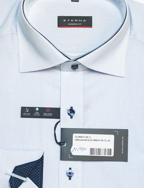 Мужская рубашка Modern Fit в мелкую клеточку 100% хлопок