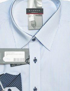 Рубашка в полоску мужская Modern Fit 100% хлопок