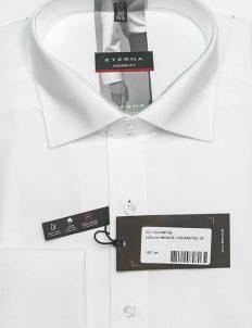 Рубашка белая мужская прямого кроя с длинным рукавом 100% хлопок