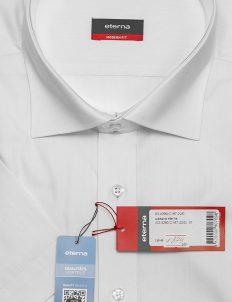 Белая мужская рубашка с коротким рукавом Modern Fit 100% хлопок