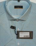 Голубая шведка с орнаментом Slim Fit 100% хлопок