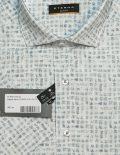 Белая рубашка с рисунком Slim Fit 100% хлопок