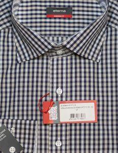 Рубашка в клетку с длинным рукавом Modern Fit 100% хлопок