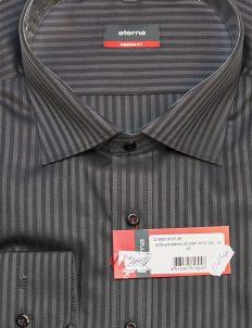 Серая рубашка Modern Fit в полоску 100% хлопок