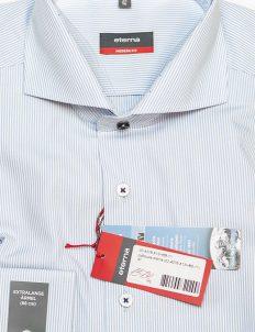 Рубашка голубая мужская в полоску Modenr Fit 100% хлопок