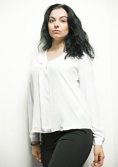 Белая блузка женская 100% шелк 100% шелк