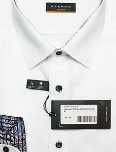Рубашка мужская белая приталенная 100% хлопок