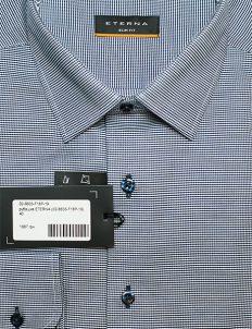 Белая в черый орнамент рубашка мужская 100% хлопок