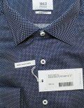 Черная мужская рубашка modern fit в белый горошек 100% хлопок