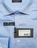 Голубая рубашка для мужчин прямого кроя 100% хлопок