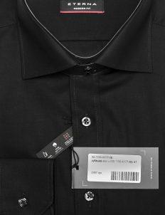 Черная однотонная рубашка из 100% хлопка 100% хлопок